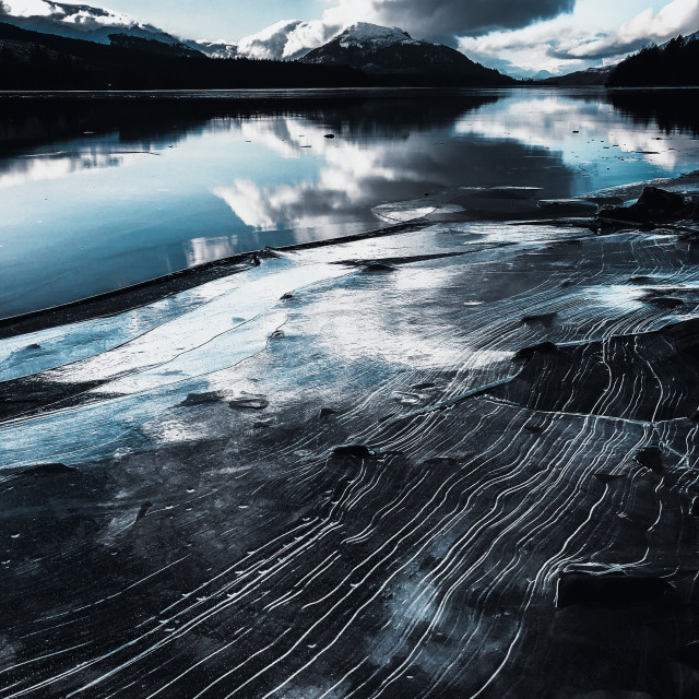 """Loch Laggan - Scottish Highlands"" stock image"