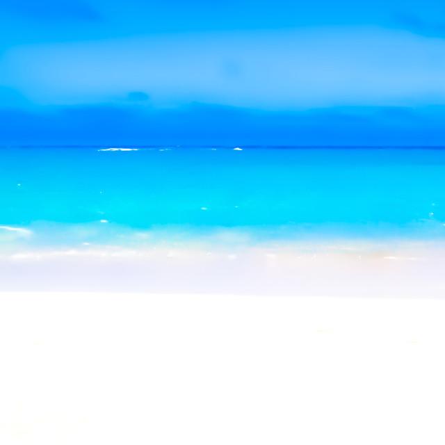 """Lossiemouth beach colours artwork, Scotland, UK"" stock image"