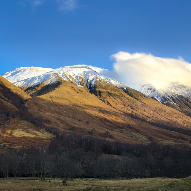 """Glen Nevis (Scottish Gaelic: Gleann Nibheis)"" stock image"