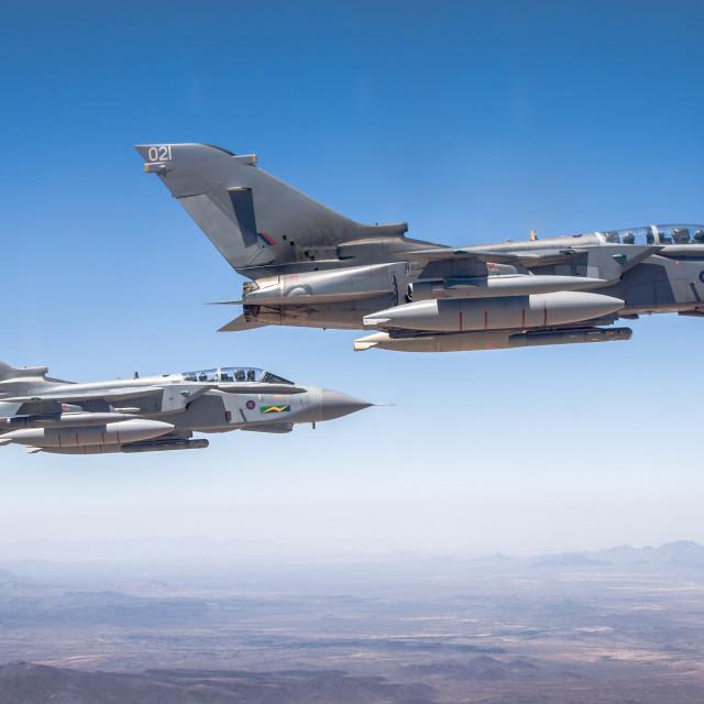 """Tornado Davis Monthan in flight"" stock image"