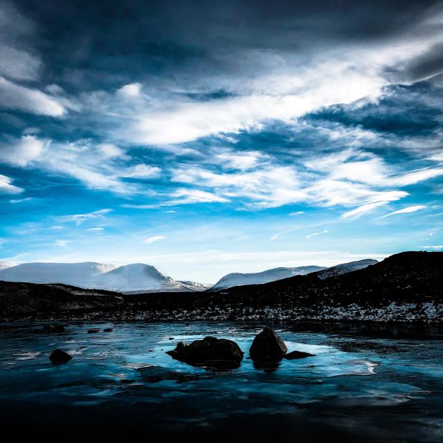 """View to Glensgaich, Scottish Highlands"" stock image"