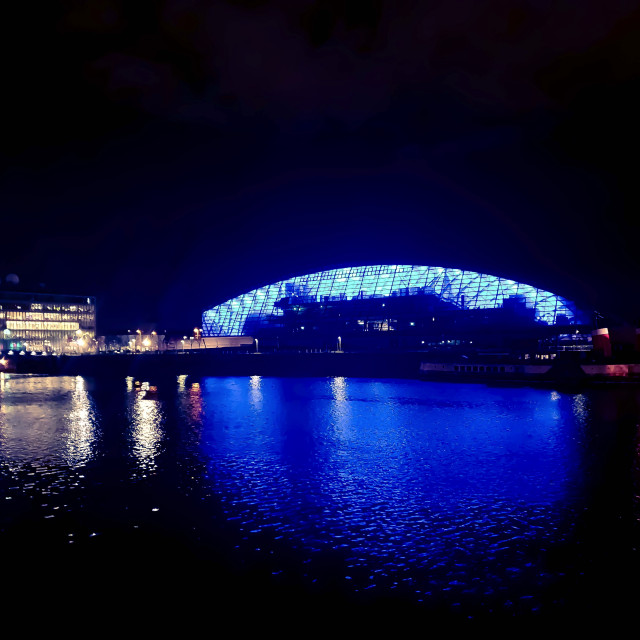 """Walking Bridges on River Clyde"" stock image"