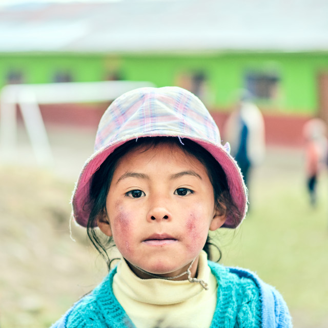 """""""Andean Girl"""" stock image"""