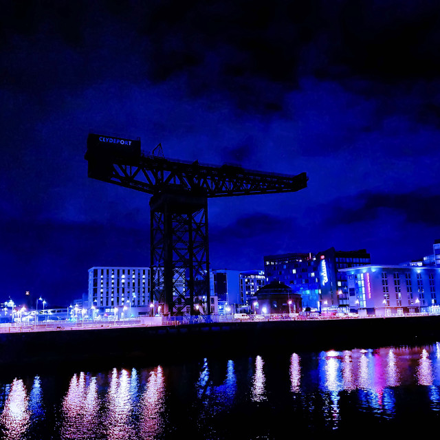 """""""Evening On River Clyde"""" stock image"""