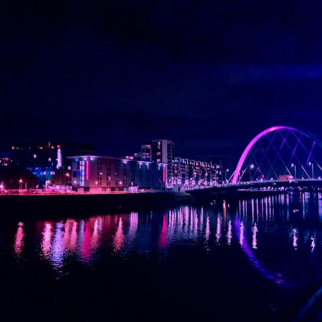 """Reflections of Squinty Bridge"" stock image"