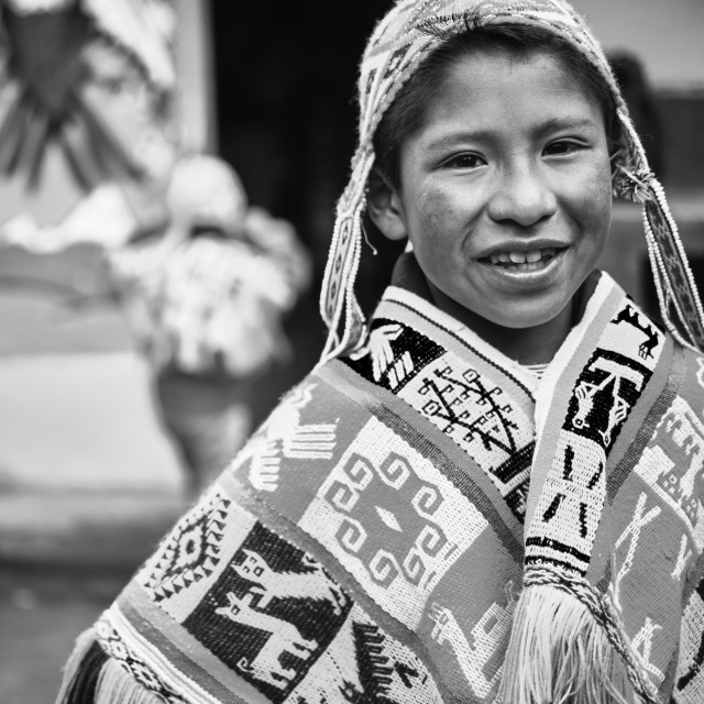 """""""Andean Boy"""" stock image"""
