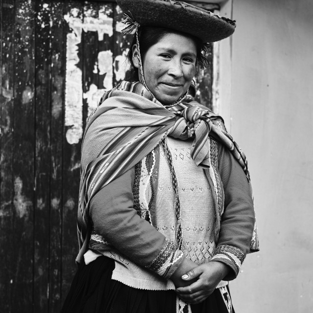 """""""Andean Woman"""" stock image"""