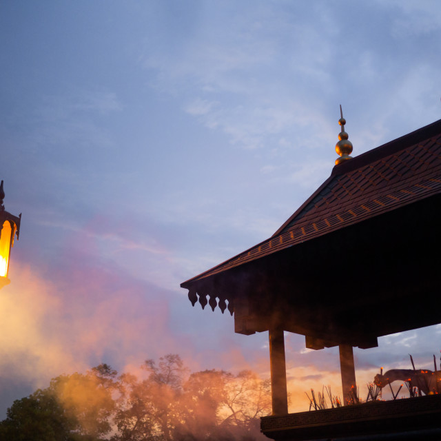 """Twilight incense"" stock image"