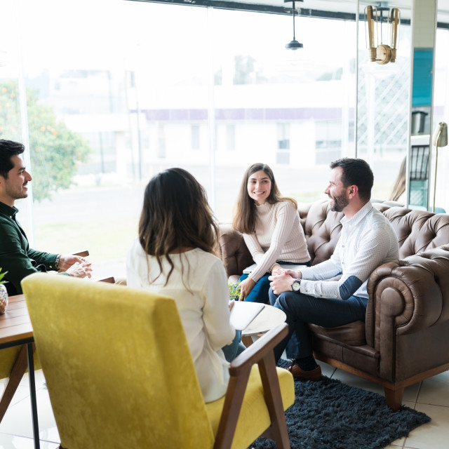 """""""Business Professionals Planning In Meeting At Office"""" stock image"""