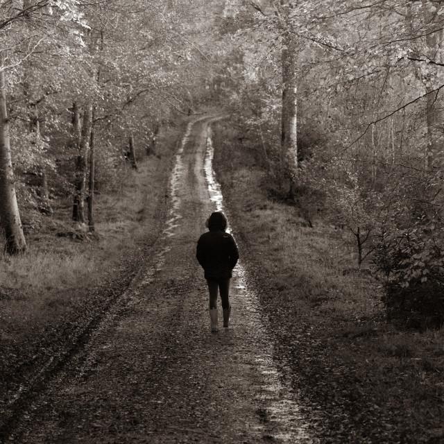 """Lonely Walks"" stock image"