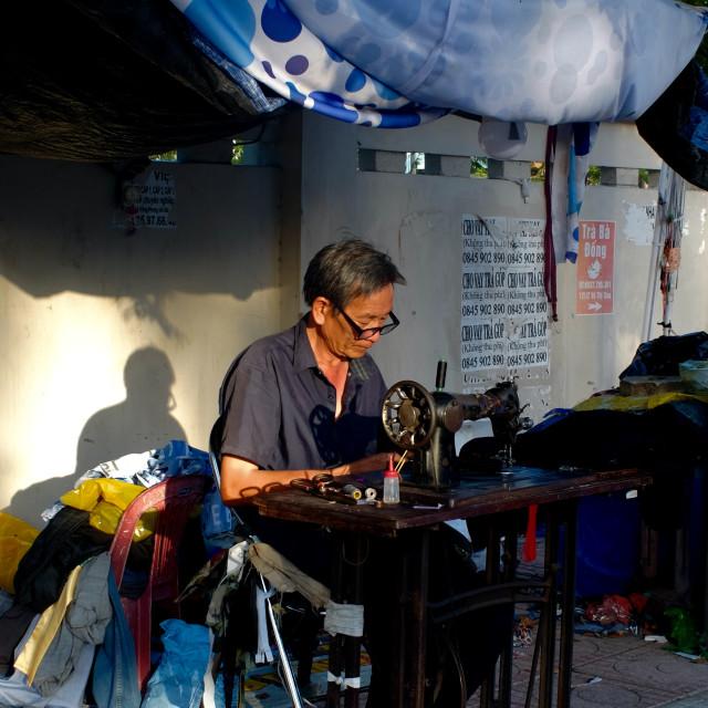 """Street tailor"" stock image"