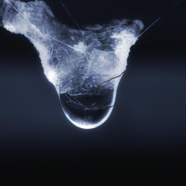 """""""Frozen water drop"""" stock image"""
