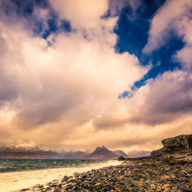 """""""Elgol 2 in Colour"""" stock image"""