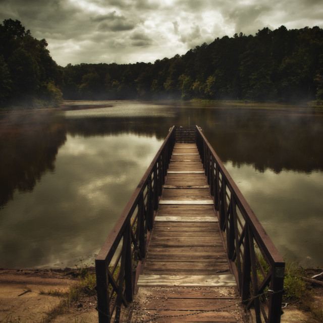 """""""Jetty and small lake"""" stock image"""