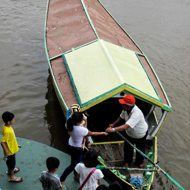 """Kuching Boat Taxi 1"" stock image"