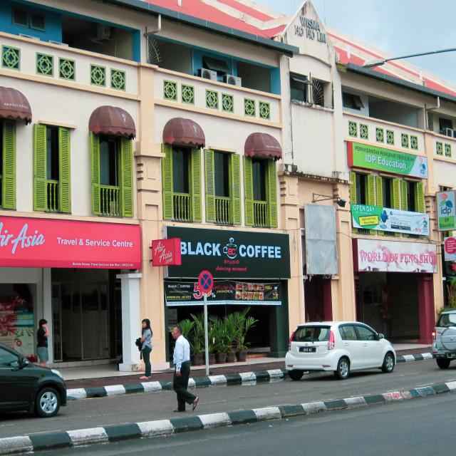 """Kuching buildings"" stock image"