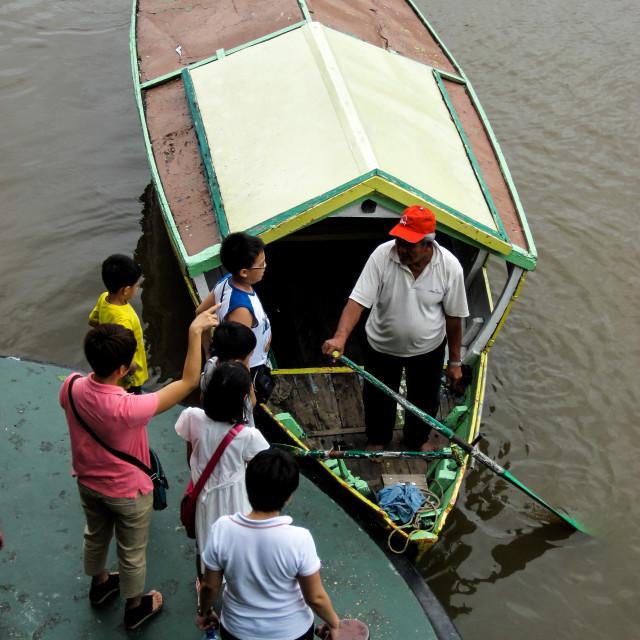 """Kuching Boat Taxi 2"" stock image"