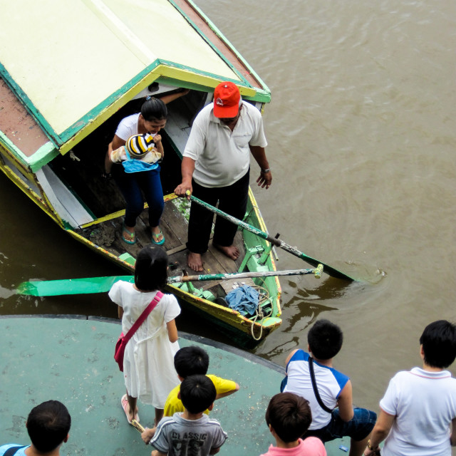 """Kuching Boat Taxi 4"" stock image"
