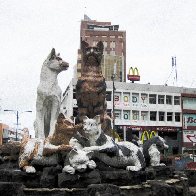 """""""Kuching Cat Monument"""" stock image"""