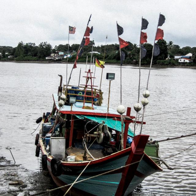 """""""Kuching River Boat"""" stock image"""