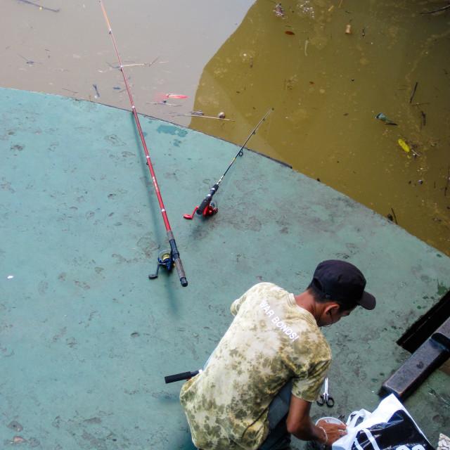 """Kuching Fishing"" stock image"