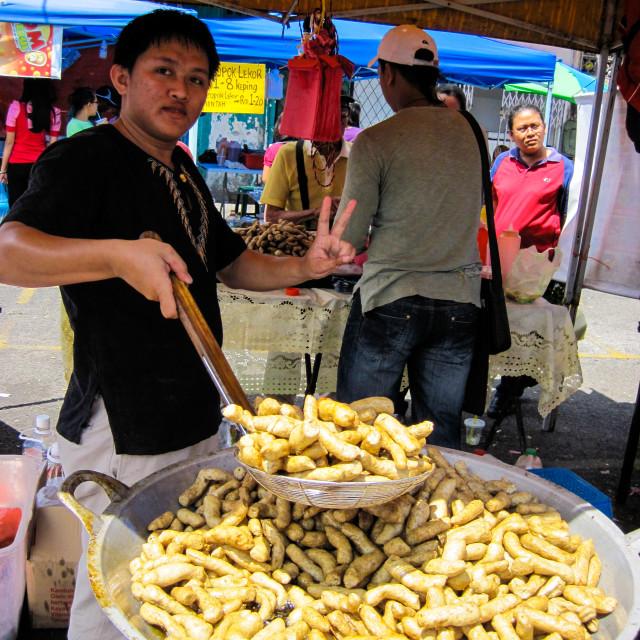 """Kuching Market"" stock image"