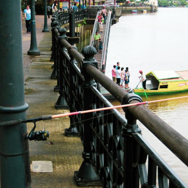 """""""Kuching fish pole"""" stock image"""