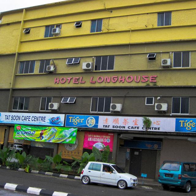 """""""Hotel Longhouse"""" stock image"""