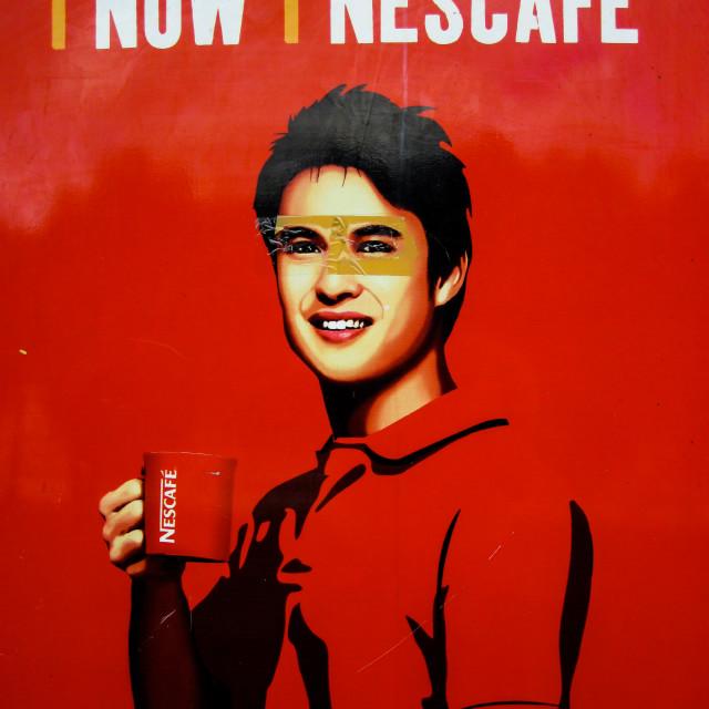 """""""Nescafe Jason"""" stock image"""