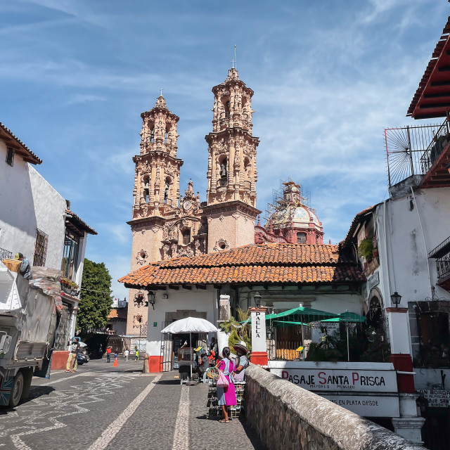 """""""Taxco de Alarcon, Guerrero Main Plaza"""" stock image"""