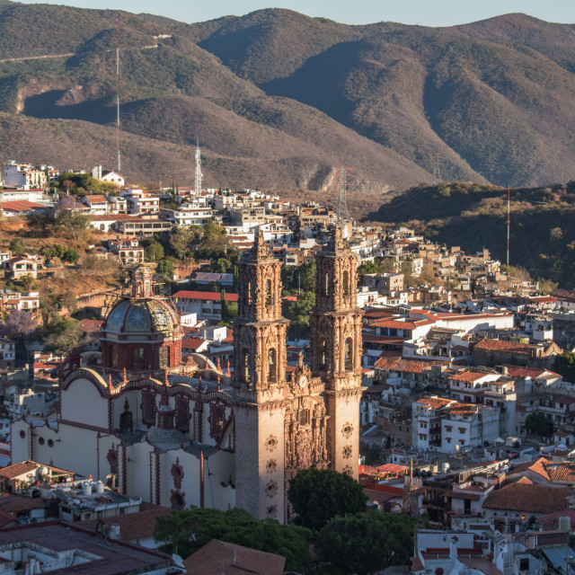 """Taxco de Alarcon, Guerrero at Sunset"" stock image"