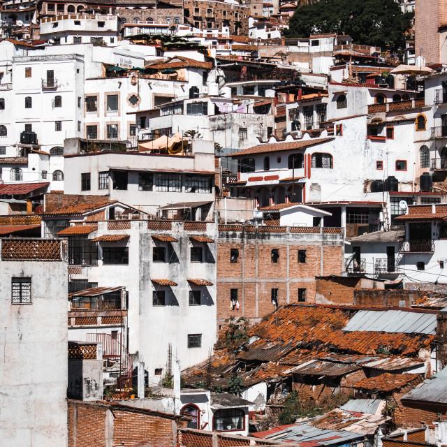 """""""Sprawling City of Taxco de Alarcon, Guerrero, Mexico"""" stock image"""