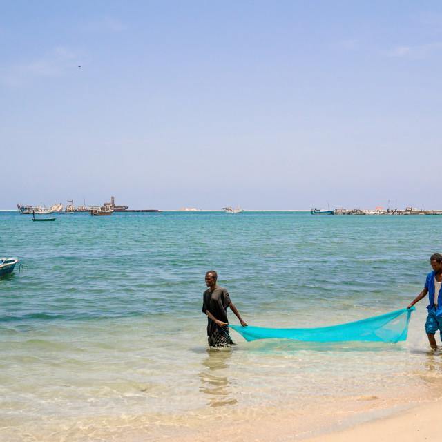 """""""Somali fishermen"""" stock image"""