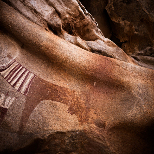 """""""Ancient cave paintings"""" stock image"""