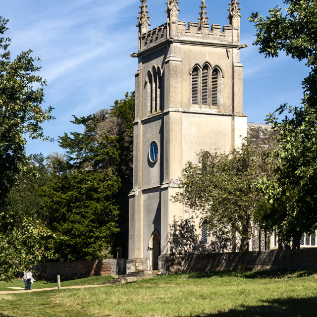 """St. Mary's Church - Ickworth Hose"" stock image"