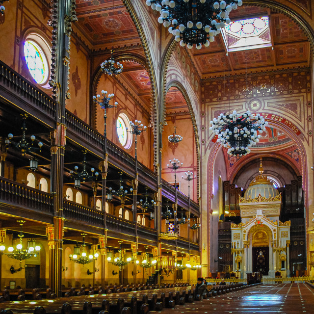 """""""The Great Synagogue of Budapest, Budapest, Hungary"""" stock image"""