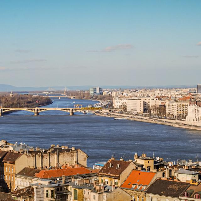 """Panorama of Budapest, Hungary"" stock image"