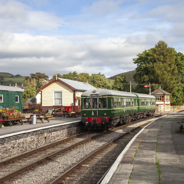 """""""Llangollen Railway"""" stock image"""