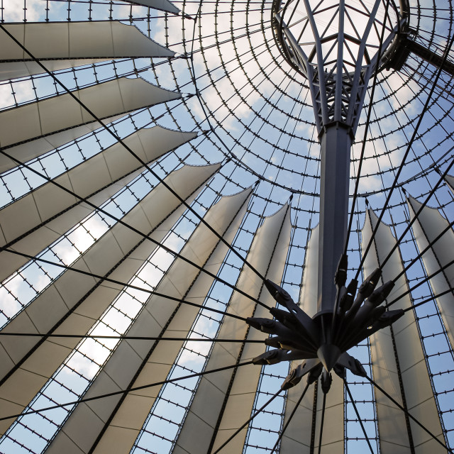 """""""Roof of the Sony Center, Berlin, Germany"""" stock image"""