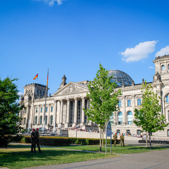 """""""Outside the Reichstag Building, Berlin, Germany"""" stock image"""