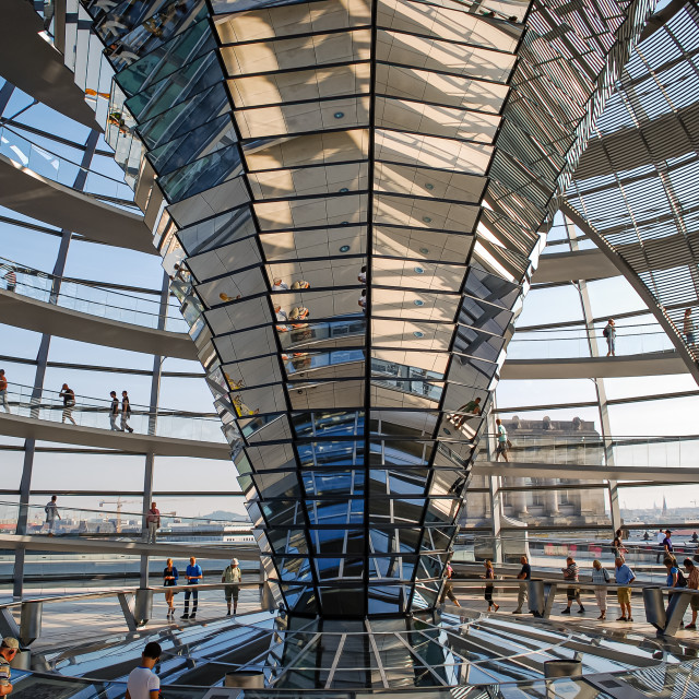 """""""Inside the Reichstag Building, Berlin, Germany"""" stock image"""