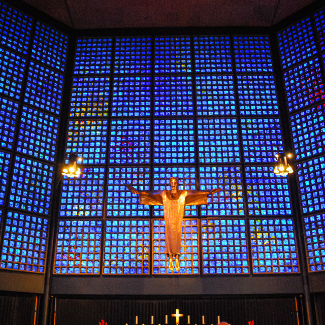 """Inside Kaiser Wilhelm Memorial Church, Berlin, Germany"" stock image"