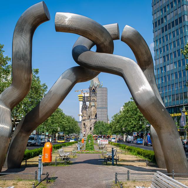 """""""Berlin Sculpture, Berlin, Germany"""" stock image"""