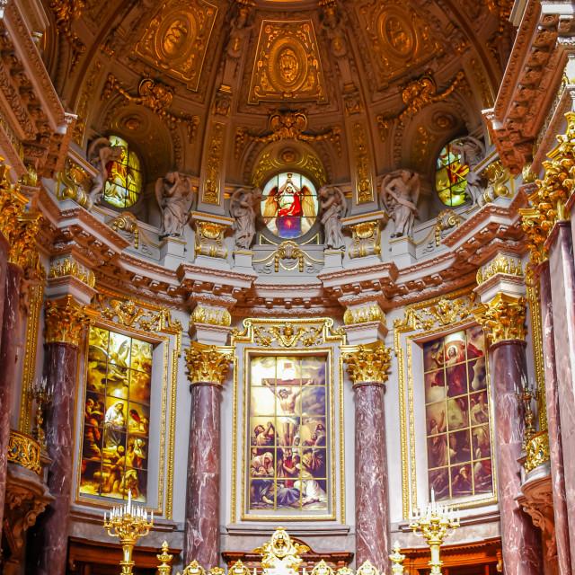 """Inside Berliner Dom, Berlin, Germany"" stock image"