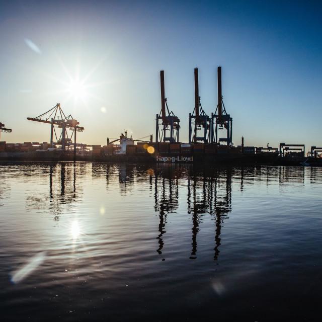 """HHLA Containerterminal Altenwerder CTA"" stock image"