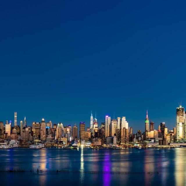 """NYC Pano Blue Hour"" stock image"