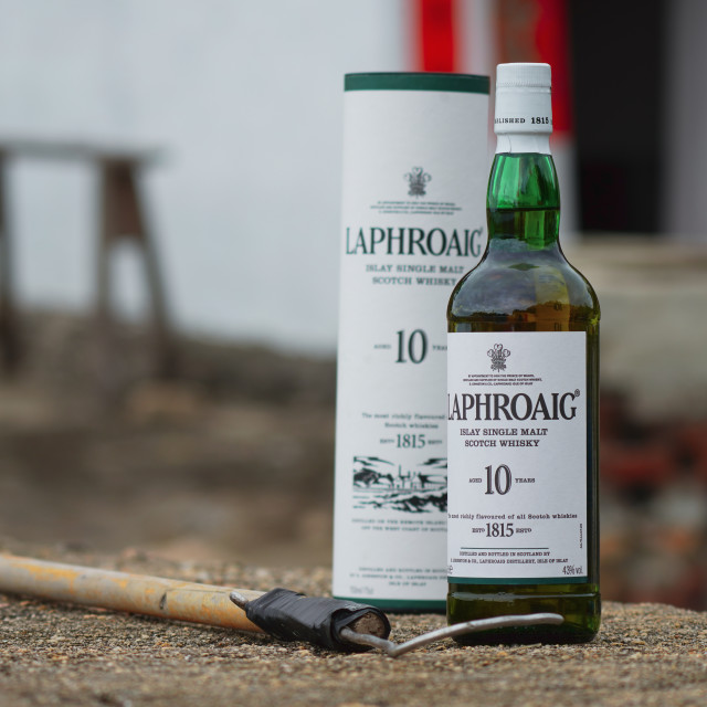 """""""Laphroaig by the Sea"""" stock image"""
