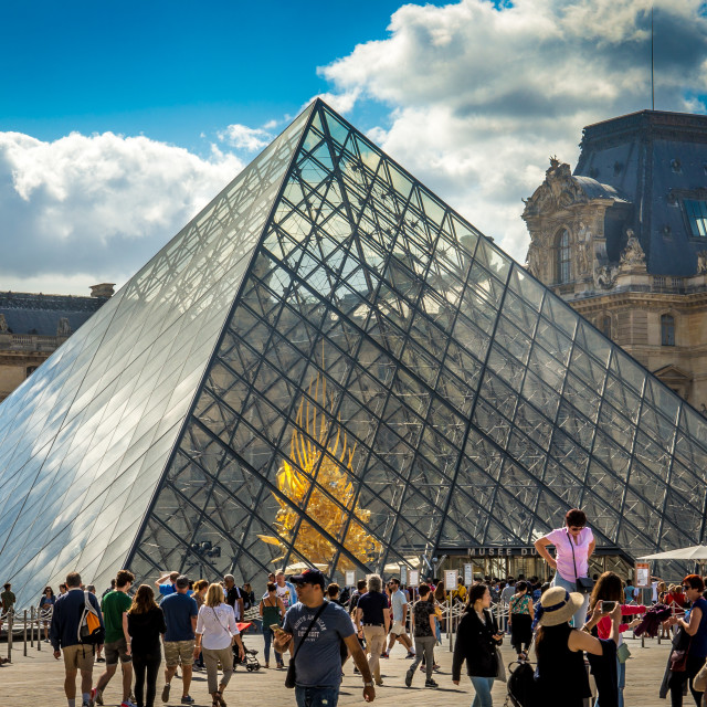 """The Louvre Museum, Paris."" stock image"