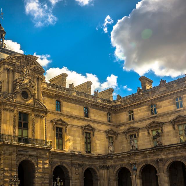 """The Louvre Palace, Paris France"" stock image"