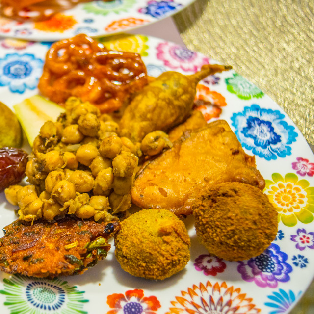 """Ramadan platter"" stock image"